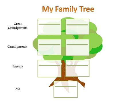 printable family tree for child school project family tree template akshita padhee