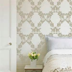 Wall Templates For Painting by Large Wall Stencils Vintage Flower Stencils For Diy