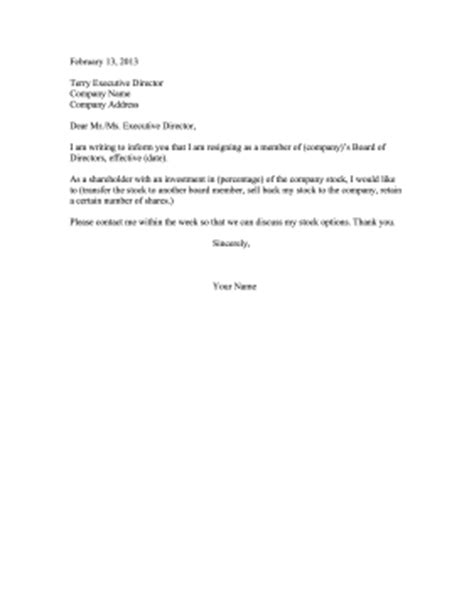 Resignation Letter Sle Transfer To Other Company Shareholder Resignation Letter