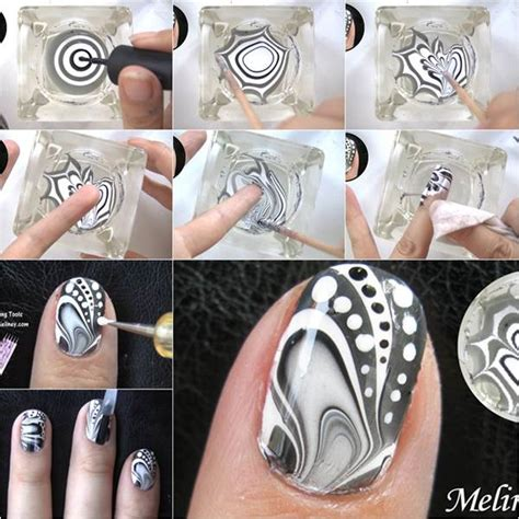 how to make amazing water marble nail diy tutorial