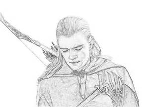 Of The Rings Legolas Elf In Lord Coloring Page sketch template
