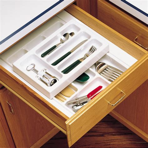 rev a shelf cutlery drawer for 24 quot cabinets w utensils 4wtud 24 sc 1 cabinetparts com rev a shelf cutlery tray 14 quot half top rt14 3h