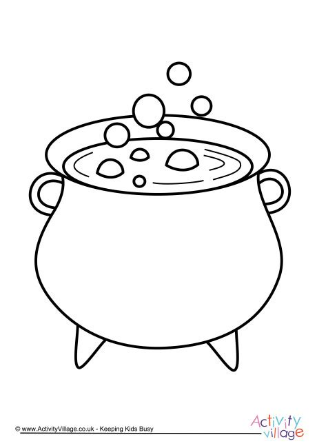 witch cauldron coloring page cauldron colouring page