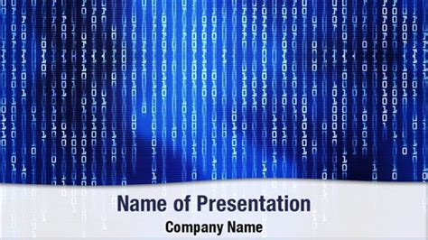 Binary Code Matrix Powerpoint Templates Binary Code Matrix Powerpoint Backgrounds Templates Binary Powerpoint Template