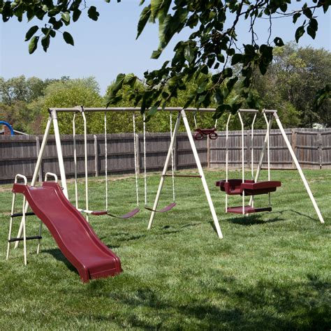 swing set swings flexible flyer play park swing set swing sets at hayneedle