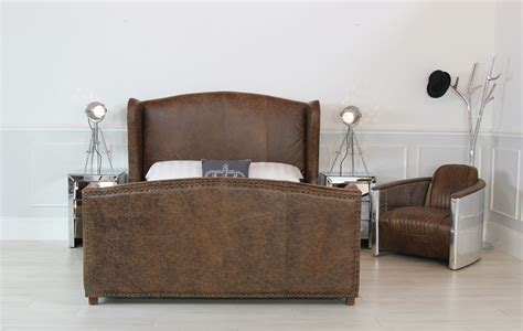 Leather Wingback Headboard by New 5ft King Size Vintage Leather Wing Back Upholstered