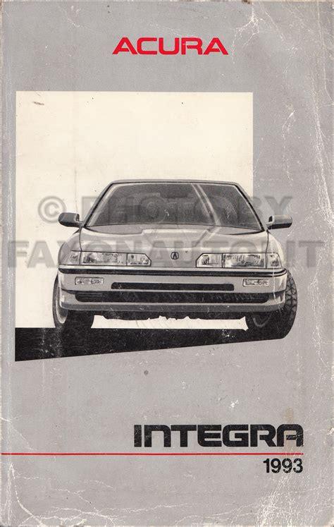 service and repair manuals 1993 acura integra security system 1990 1993 acura integra body repair shop manual original