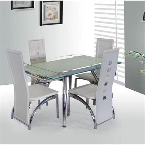 frosted glass dining room table 100 best images about 4 seater glass dining sets on