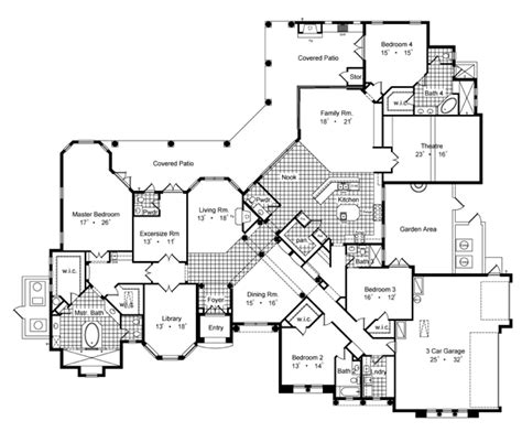villa house plans floor plans villa savoia 6429 4 bedrooms and 4 baths the house