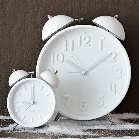 ceramic white alarm clock modern alarm clocks by west elm