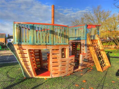 pirate ship backyard playset canons and climbing rope houghton conquest school outdoor