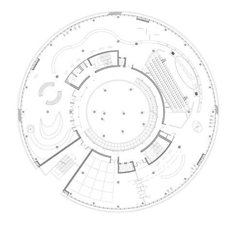 post circle floor plans gallery of alesia museum bernard tschumi architects 11