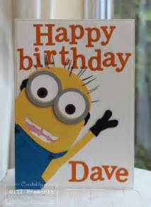 minion birthday card happy birthday