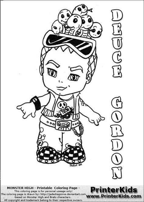 monster high coloring pages printerkids lo kittie colouring pages