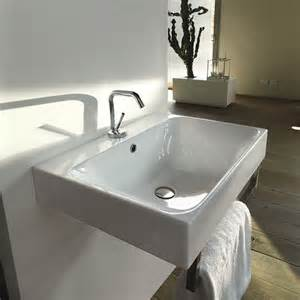 bathroom sinks wall hung ws bath collections cento 3539 wall hung or counter top