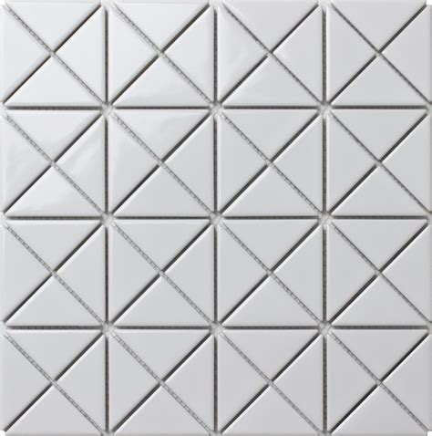 pattern tile sle 2 pure white glossy porcelain triangle mosaic wall tile