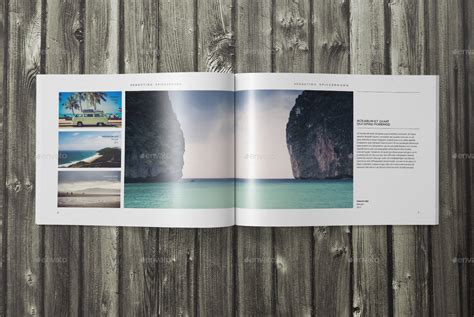 indesign landscape photo book template  sacvand