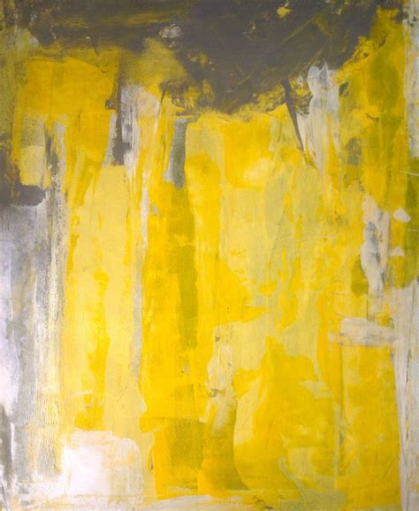 grey and yellow acrylic abstract art painting grey yellow and white
