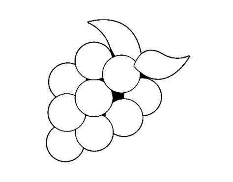 dibujos infantiles uvas dibujo de uvas verdes para colorear dibujos net