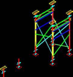 scaffold  dwg model  autocad designs cad