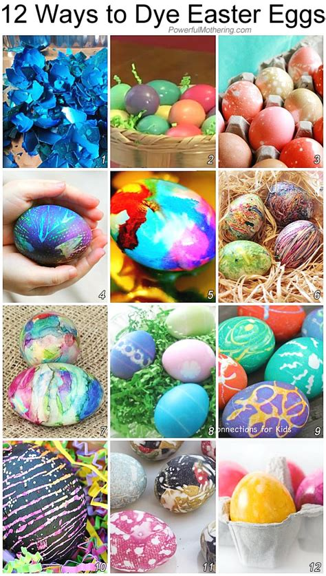 how to dye easter eggs 12 different ways