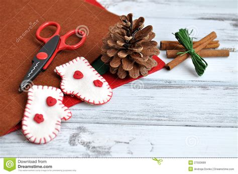 christmas craft supplies royalty free stock images image