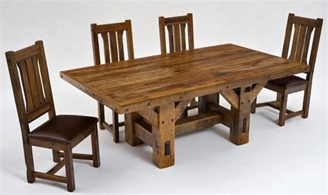 Arts And Crafts Dining Room Set by Timber Dining Table Reclaimed Barn Beams Hand Made Solid