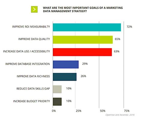 goals and challenges marketing strategy b2b data management marketers top