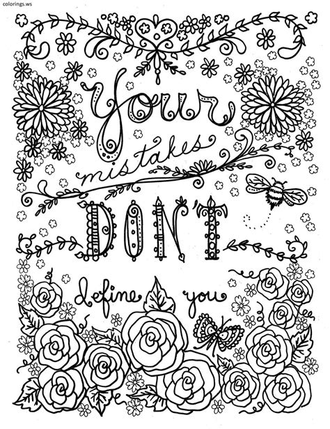 color sayings mistakes sayings coloring page sayings coloring pages