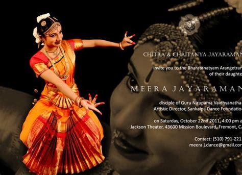 Bharatanatyam Arangetram Of Meera Jayaraman In Jackson Arangetram Invitation Templates