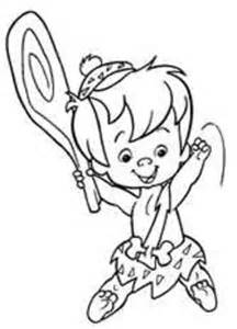 free coloring pages of bam bam and pebbles