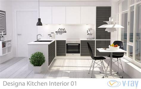 3d modern kitchen interior 001 cgtrader regarding kitchen