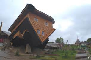 Interesting House Designs by Unusual Homes Upside Down House In Szymbark Poland