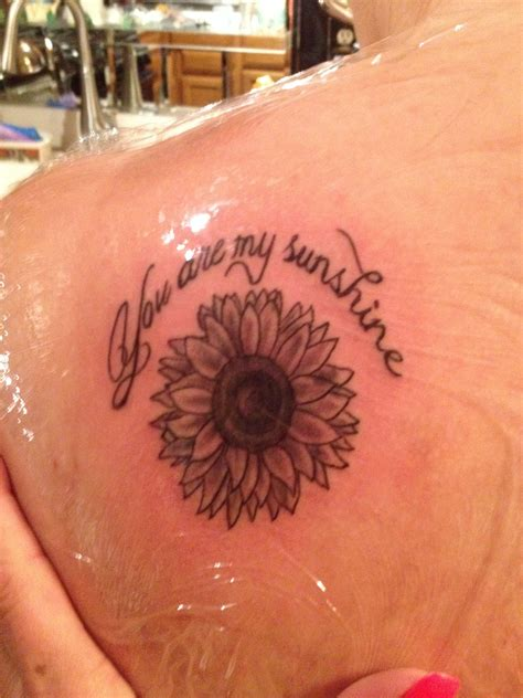 sunshine tattoos sunflower quot you are my quot ideas