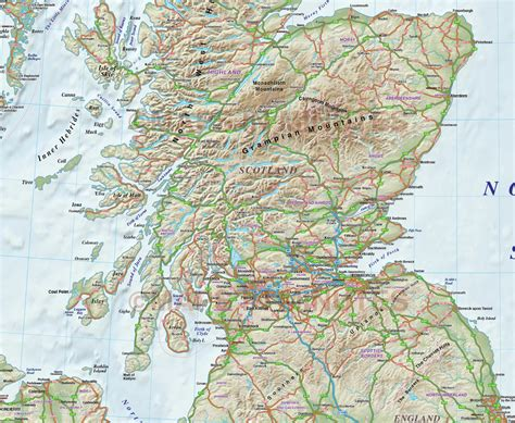printable road map of scotland road map of scotland my blog