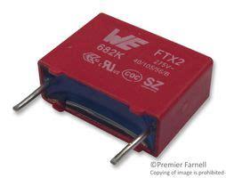 polypropylene capacitor farnell 890324023004cs wurth elektronik capacitor 8200 pf 275 vac pp polypropylene 177 10