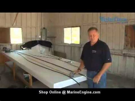 boat steering cable replacement video boat steering cable replacement guide youtube