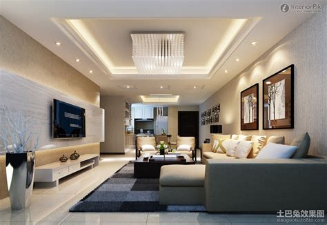modern mansion living room with tv design 9 on
