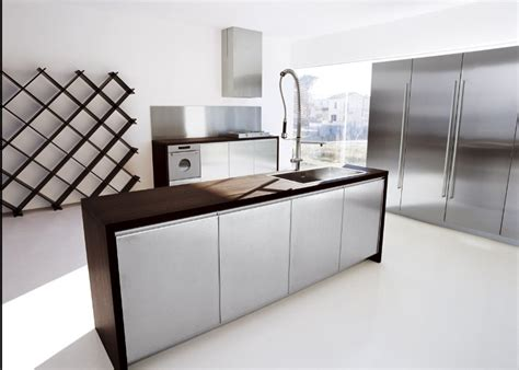 Counter Kitchen Design by Modern Kitchen With Wood Counter Design