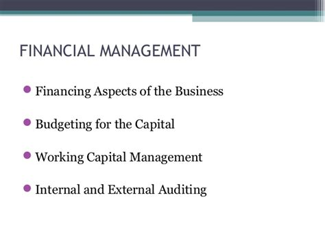Financial Management Course Syllabus Mba by Financial Management Term Course For Non Finance