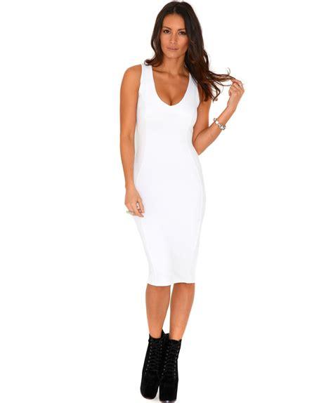 Bodycon White Dress white bodycon dress dressed up