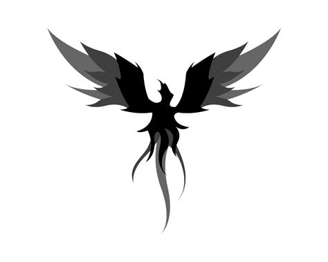 black and white phoenix tattoo designs tattoos png transparent images png all
