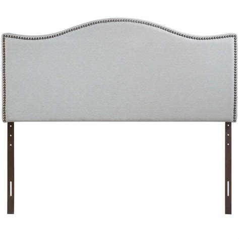 Nailhead King Headboard Curl King Nailhead Upholstered Headboard Modern In Designs