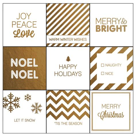 printable gift tags gold modern christmas printable gift tags