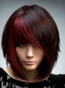 red brunette hair color over 50 asymmetrical haircuts for older women haircuts for women