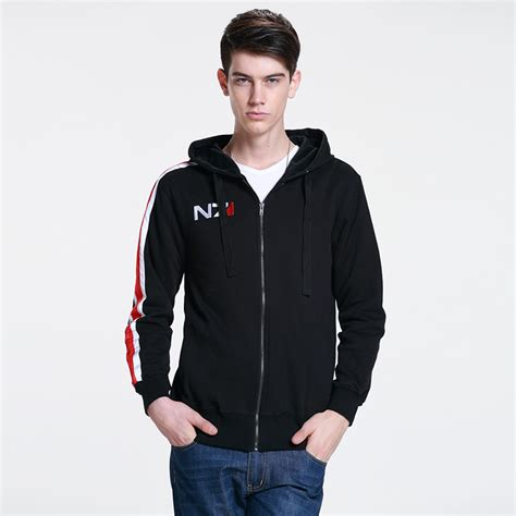 Hoodie Zipper Rpg Mass Effect N7 4 usd 44 06 mass effect sweatshirt n7 sweatshirt fleece zipper hoodie jacket around clothes