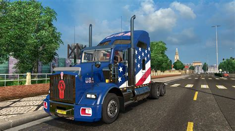kenworth usa usa skin for kenworth t800 euro truck simulator 2 mods