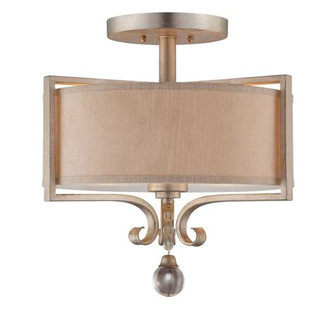 Savoy Lighting Fixtures Savoy House 6 258 2 307 Silver Sparkle 2 Light Semi Flush Ceiling Fixture From The Rosendal