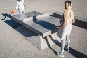 monoliths concrete ping pong tables benches design milk