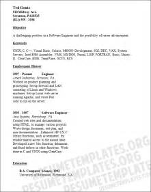 Resume Templates Software by Software Engineer Resume Template Free Downloadable Resume Sle